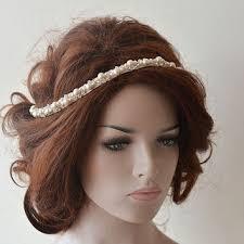 bridal headbands bridal headband rhinestone and pearl from adbrdal on etsy