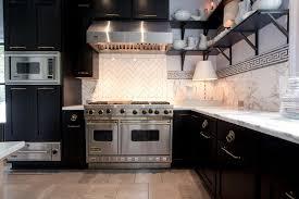 L Shaped Bathroom Vanity by Contemporary Kitchen With Herringbone Tile Backsplash U0026 Raised
