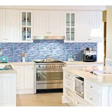Cobalt Blue Kitchen Cabinets Blue Tile Backsplash Kitchen Ideas Blue Kitchen Tile Cobalt Blue