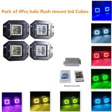 Flush Mount Led Lights 3 Flush Mount Fog Lights With Rgb Halo Ring By Remote Controller
