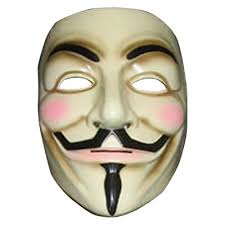 Anonymous Halloween Costume Vendetta Mask Mens Guy Fawkes Anonymous Usa Occupy