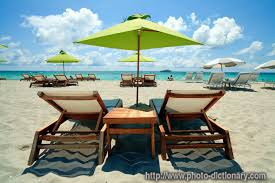 Beach Lounge Chairs Beach Lounge Chairs Photo Picture Definition At Photo Dictionary