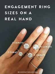 2 carat ring a side by side carat comparison of different engagement ring sizes