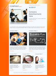email template news marketing business plan orange free create a