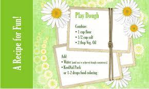 printable playdough recipes koolaid play dough recipe free printable living locurto