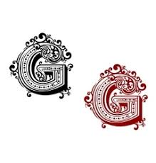 letter m decorated with swirl ornaments royalty free vector