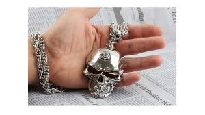 fashion skull necklace images Mens big skull metal necklace sn10 029 22 90 jpg