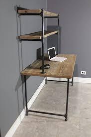 Industrial Computer Desks Reclaimed Computer Desk W 2 Shelves By Urbanwoodfurnishings