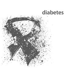 awareness splatter ribbon diabetes t shirt