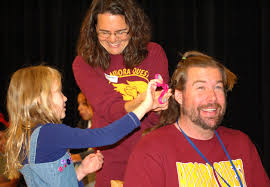 aurora quest students give staff member unforgettable haircut