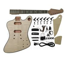 is black hardware in style mahogany fb style guitar kit with rosewood fretboard black hardware