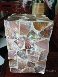 Diy Mosaic Table Table Lamps Zoom Seashell Shutter Table Lamp Ocean Crown