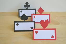 casino place cards set of 12 card food tents