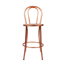Copper Bistro Chair Bistro Counter Stool W Back