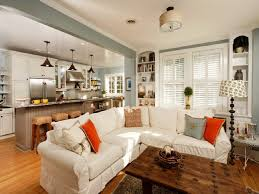 Best Grey Orange Coral Tangerine Green Room Ideas Images On - Small kitchen living room design ideas