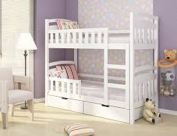 Wooden Bunk Beds With Mattresses Details About Lilly Brand White Pine Blue Wooden Bunk Bed With