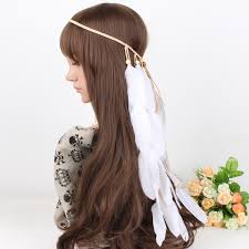 hair ornaments feather weave women headband bohemian indian style boho