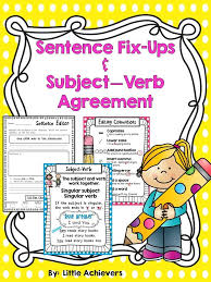 16 best subject verb agreement images on pinterest subject verb