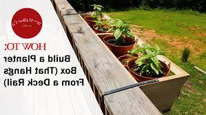 Diy Railing Planter Box by Deck Rail Planters Diy Deks And Tables Decoration