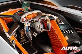lamborghini custom gold interior of the new lamborghini egoista looks pretty cyberpunk to