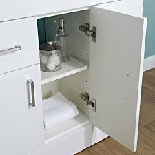 white minimalist modern 800mm vanity storage unit with basin sink