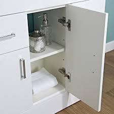 Eden Bathroom Furniture by White Minimalist Modern 800mm Vanity Storage Unit With Basin Sink