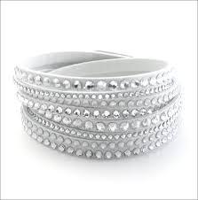 swarovski white bracelet images Cuore rakuten global market 8 c winding double wrap swarovski jpg