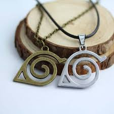 naruto anime necklace images 2 colors naruto leaf symbol high quality pendant necklace jpg