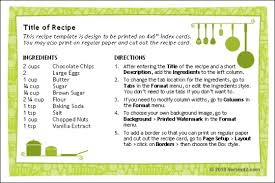 7 recipe card template for word survey template words