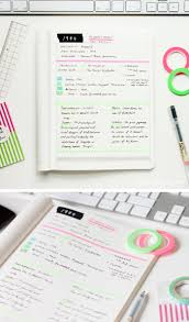how to use washi tape in your notebook note and college