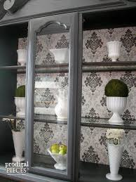 glass shelves for china cabinet china cabinet makeover with wallpaper china cabinets china and