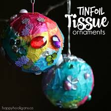 tin foil tissue paper ornaments for happy hooligans