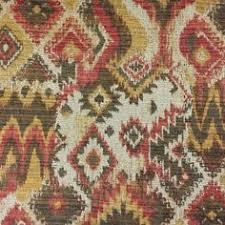 Upholstery Fabric Southwestern Pattern Orange Brown And Yellow Southwestern Diamond Tapestry Upholstery