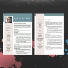 Professional It Resume Template Creative Resume Template Cover Letter Word Us Letter A4 Cv