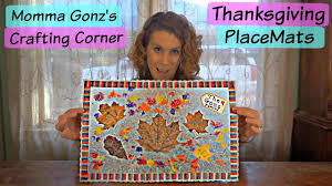 thanksgiving place mats kids crafts diy thanksgiving placemats momma gonz s