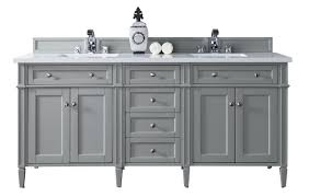 72 bathroom vanity gray 3cm white quartz top