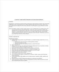 Logistics Responsibilities Resume Https Images Sampletemplates Com Wp Content Uplo