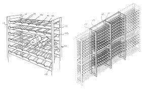 patent us8276769 wine rack google patents
