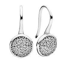 swag earrings pandora dazzling droplets earrings clear cubic zirconia swag