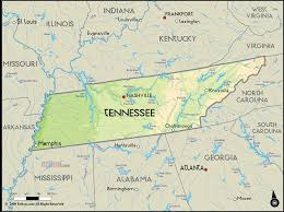 Tennessee Political Map by Tennessee Travel Map Vacations Travelsfinders Com