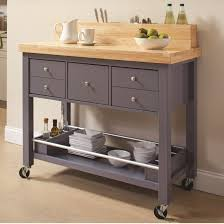 coaster 102666 gray and natural storage kitchen cart with drawers