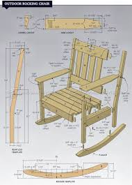 Furniture Projects Outdoor Rocking Chair Plans U2022 Woodarchivist