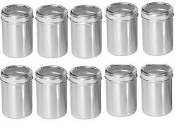 stainless steel canisters kitchen buy swhf steel stainless steel kitchen containers set of 10