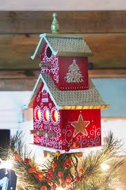 painted bird house tree topper pretty handy