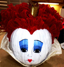 1st place winner pumpkin contest queen of hearts crafts