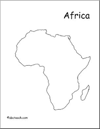 africa map drawing map africa outline abcteach