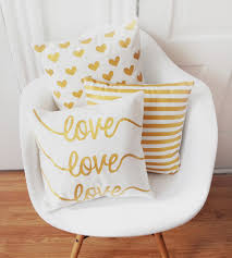White And Gold Home Decor Painted Pillow Covers 3 Pack Home Decor U0026 Lighting Hello