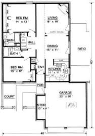 Small 2 Bedroom House Floor Plans Small Low Cost Economical 2 Bedroom 2 Bath 1200 Sq Ft Single Story