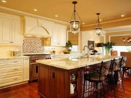 elegant kitchen island with special vintage pendant lamps for