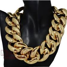 chunky statement chain necklace images Hip hop fashion heavy big simple gold chain chunky necklace women jpg